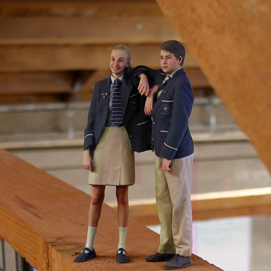 3D portraits of school kids.