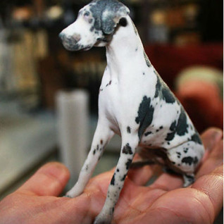 3D printed figurine of dog Twindom