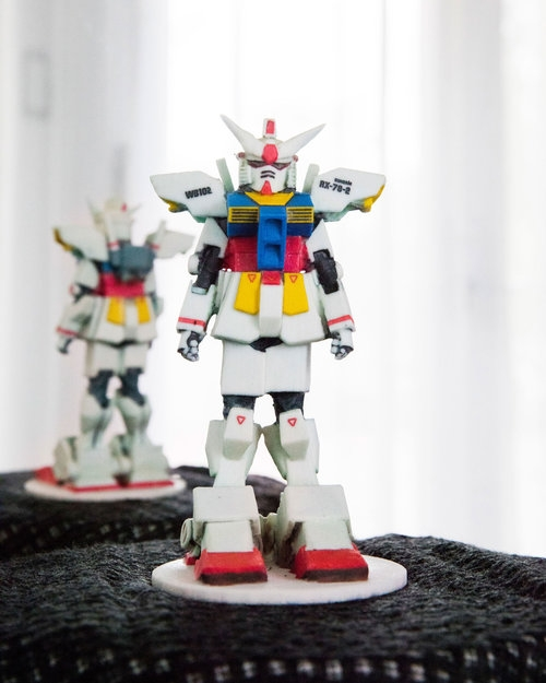Gundam 3D printed action figure twindom