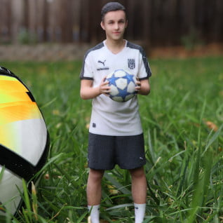 soccer kid 3d printed figurine